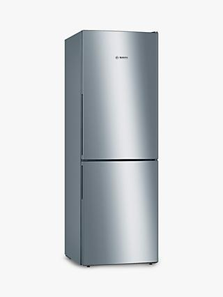 Bosch Serie 4 KGV33VLEAG Freestanding 50/50 Fridge Freezer, Stainless Steel Effect