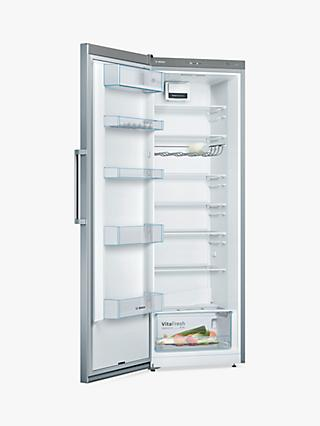 Bosch Serie 4 KSV33VLEP Freestanding Fridge, Steel Effect