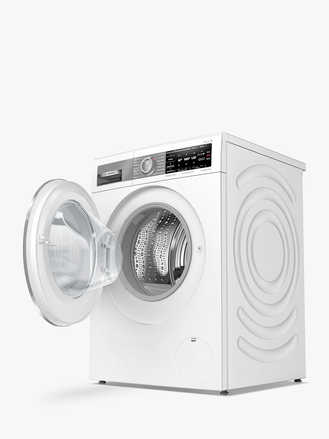 Buy Bosch Serie 8 WAX32GH4GB Freestanding Washing Machine, 10kg Load, 1600rpm Spin, White Online at johnlewis.com