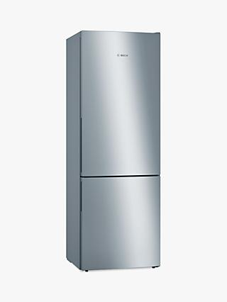 Bosch Serie 6 KGE49AICAG Freestanding 70/30 Fridge Freezer, 70cm Wide, Stainless Steel