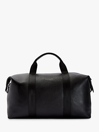 Ted Baker Holding Leather Holdall, Black