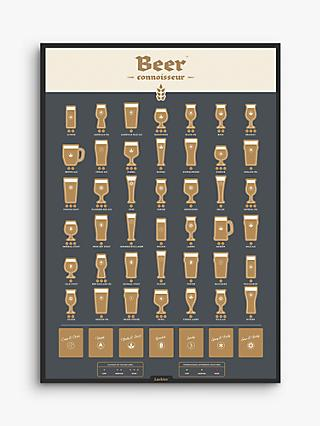 Luckies Beer Connoisseur Scratch Off Poster