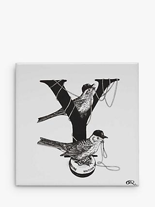 Rory Dobner Y - Yo-Yo Yankee Yellowtails Decorative Tile