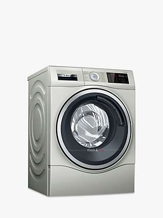 Bosch Serie 6 WDU28569GB Freestanding Washer Dryer, 10kg Wash/6kg Dry Load, 1400rpm Spin, Silver