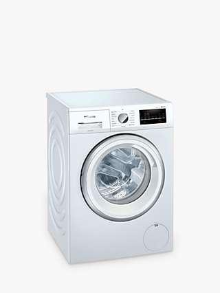 Siemens iQ500 WM14UT71GB Freestanding Washing Machine, 9kg Load, 1400rpm Spin, White