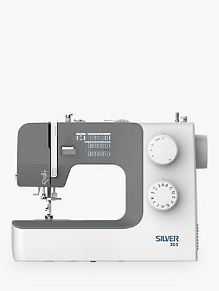 Silver 303 Sewing Machine, White
