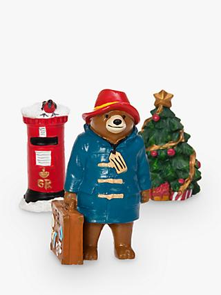 John Lewis & Partners Paddington Bear Christmas Cake Topper Set, Multi