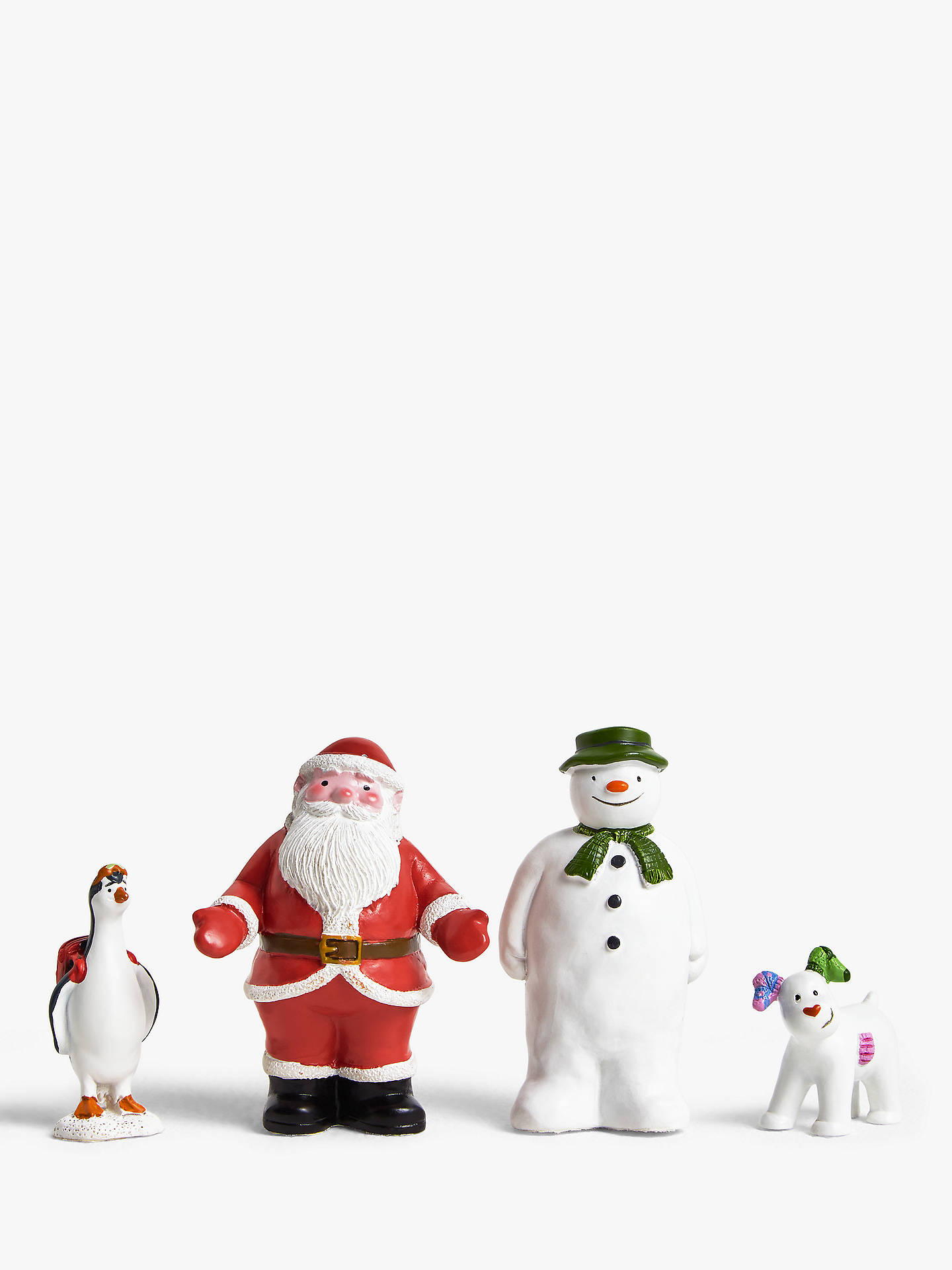 Buy John Lewis & Partners Christmas The Snowman, Snowdog, Penguin and Santa Cake Topper Set Online at johnlewis.com