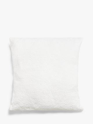 John Lewis & Partners Matelasse Cushion, White