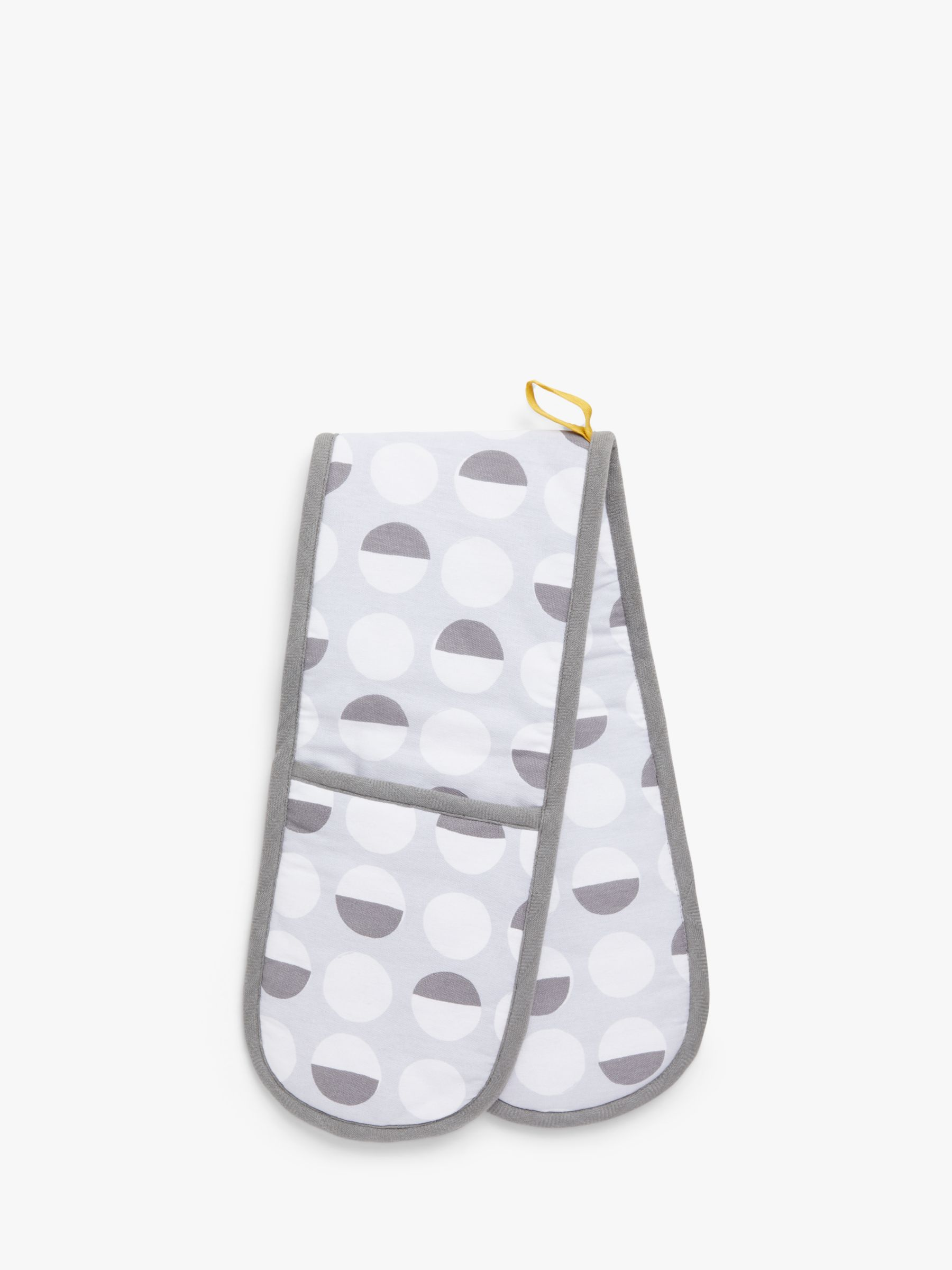ANYDAY John Lewis & Partners Simple Spot Print Double Oven Glove, Grey