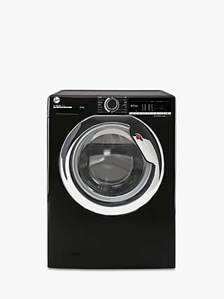 Hoover H-Wash 300 H3WS 4105TACBE-80 Freestanding Washing Machine, 10kg Load, A+++ Energy Rating, 1400rpm Spin, Stainless Black