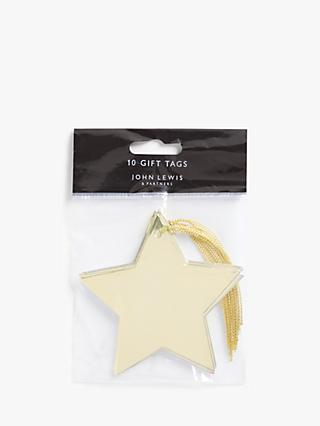 John Lewis & Partners Art Nouveau Star Gift Tags, Pack of 10, Gold