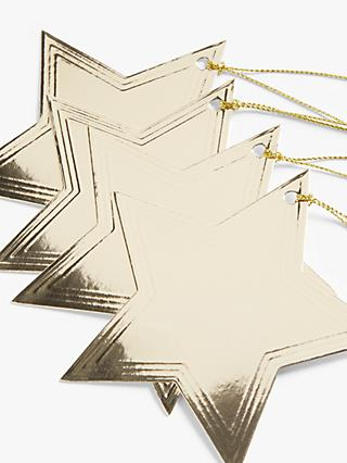 John Lewis & Partners Art Nouveau Star Gift Tags, Pack of 10, Gold, bundle of 2