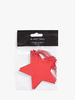 John Lewis & Partners Art of Japan Star Gift Tags, Pack of 10, Red