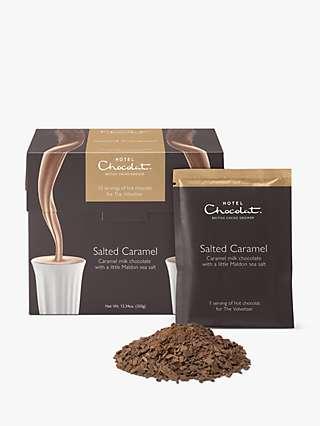 Hotel Chocolat Salted Caramel Hot Chocolate Sachets, 350g