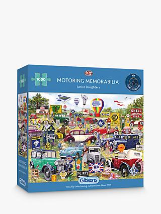 Gibsons Motoring Memorabilia Jigsaw Puzzle, 1000 Pieces