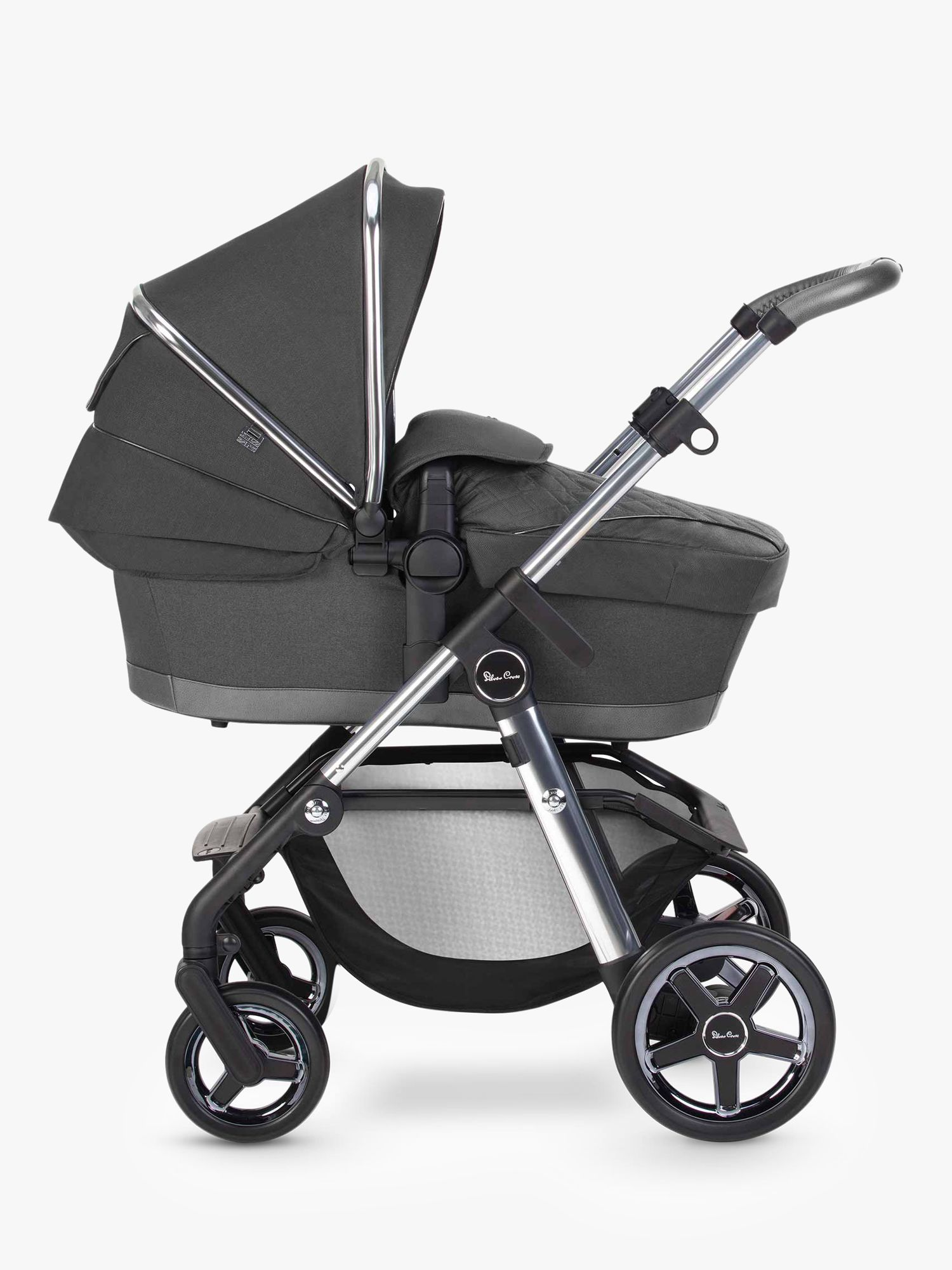 Silver Cross Pioneer 2020 Pushchair and Carrycot, Clay