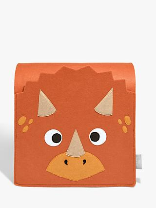 Little Stackers Troy Triceratops Storage Bed Pocket, Orange