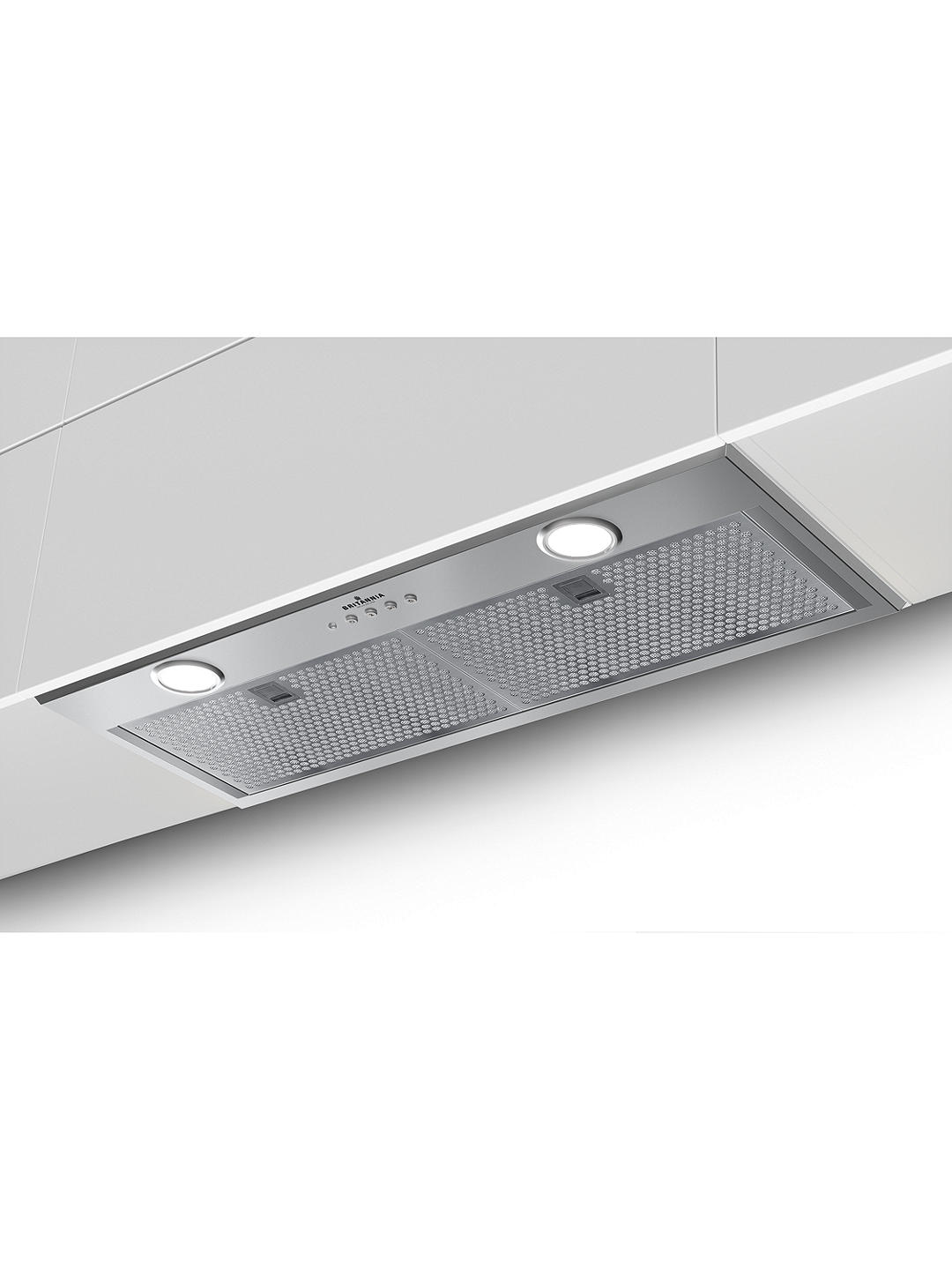 Buy Britannia Luminoso 70cm Built-in Canopy Cooker Hood, A Energy Rating, Stainless Steel Online at johnlewis.com