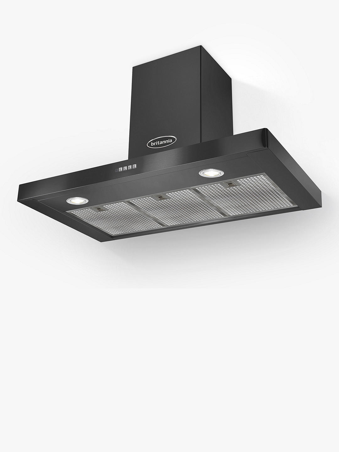 Buy Britannia Poetico 90cm Chimney Cooker Hood, A+ Energy Rating, Black Online at johnlewis.com