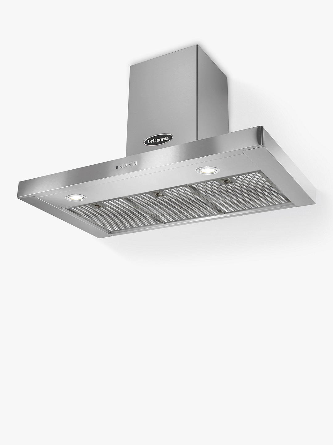 Buy Britannia Poetico 90cm Chimney Cooker Hood, A+ Energy Rating, Stainless Steel Online at johnlewis.com
