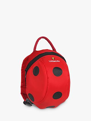 LittleLife Ladybird Toddler Backpack, Red