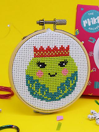 The Make Arcade Mini Sprout Cross Stitch Kit