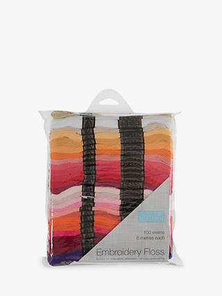 Trimits Embroidery Floss Skeins, 8m, Pack of 100, Multi