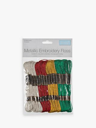 Trimits Metallic Embroidery Skeins, 8m, Pack of 16, Multi