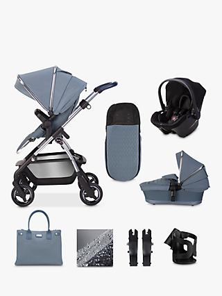 Silver Cross Wayfarer 2020 Simplicity Plus 10 Piece Pushchair and Carrycot Bundle, Sky