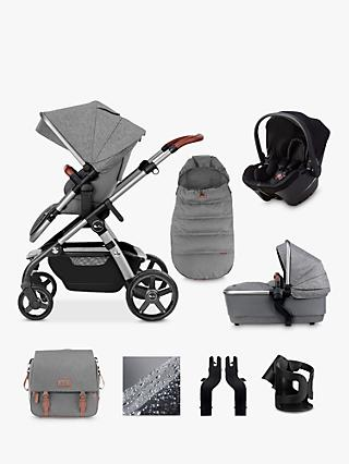 Silver Cross Wave 2020 Simplicity Plus 10 Piece Pushchair and Carrycot Bundle, Zinc