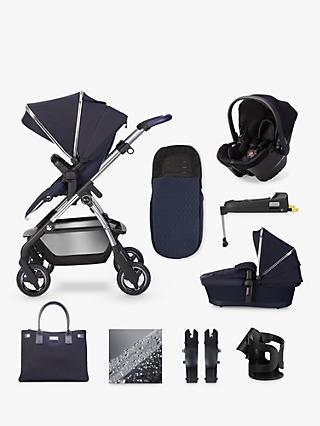 Silver Cross Wayfarer 2020 Simplicity Plus and Isofix Base 11 Piece Pushchair and Carrycot Bundle, Sapphire