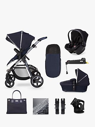 Silver Cross Pioneer 2020 Simplicity Plus 11 Piece Pushchair and Carrycot Bundle, Sapphire