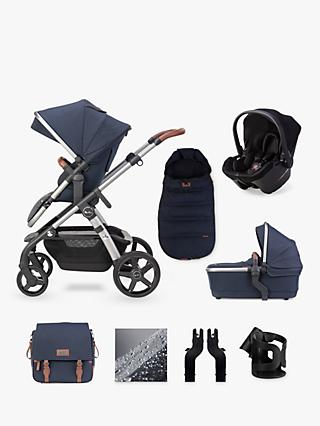 Silver Cross Wave 2020 Simplicity Plus 10 Piece Pushchair and Carrycot Bundle, Indigo