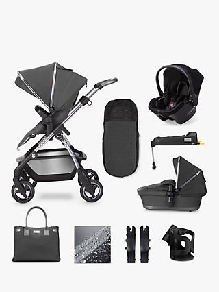 Silver Cross Wayfarer 2020 Simplicity Plus and Isofix Base 11 Piece Pushchair and Carrycot Bundle, Clay