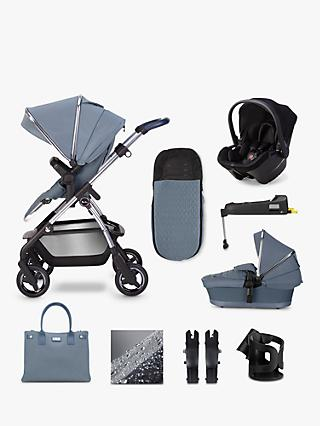 Silver Cross Wayfarer 2020 Simplicity Plus and Isofix Base 11 Piece Pushchair and Carrycot Bundle, Sky