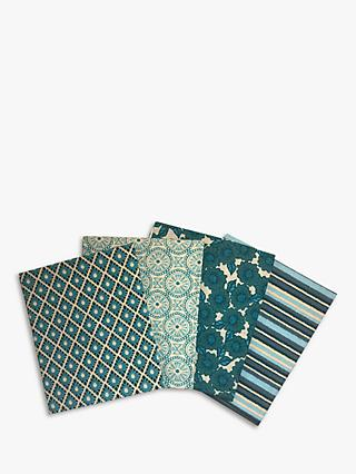 Visage Textiles Tranquility Printed Fat Quarter Fabrics, Pack of 4, Multi
