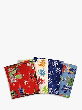 Visage Textiles Snow Friend Printed Fat Quarter Fabrics, Pack of 4, Multi