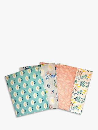 Visage Textiles Meadow View Printed Fat Quarter Fabrics, Pack of 4, Multi