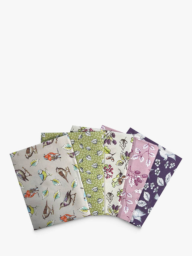 Buy Visage Textiles Garden Birds Printed Fat Quarter Fabrics, Pack of 5, Multi Online at johnlewis.com