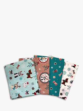 Visage Textiles Freddie Fat Quarter Fabrics, Pack of 4, Multi