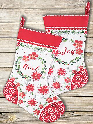 Visage Textiles Merry and Bright Stockings Fabric Panel