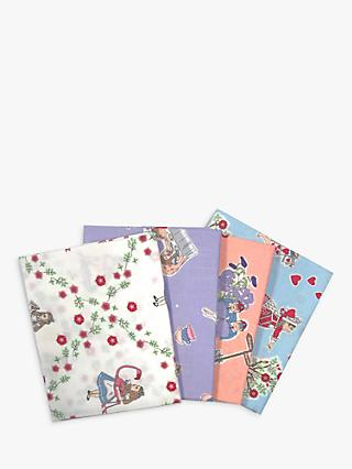 Visage Textiles V&A Alice Fat Quarter Fabrics, Pack of 4, Multi