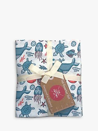 Visage Textiles Under The Sea Fat Quarter Fabrics, Pack of 4, Multi