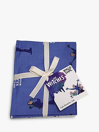 Visage Textiles Roald Dahl The Witches Print Fat Quarter Fabrics, Pack of 4, Multi