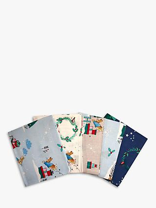 Visage Textiles Peter Rabbit Print Fat Quarter Fabrics, Pack of 4, Multi