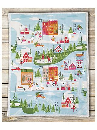 Visage Textiles Christmas Town Advent Calendar Fabric Panel