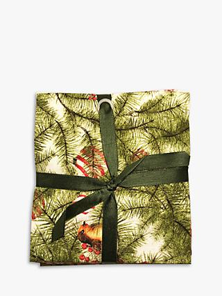 Visage Textiles Winter Forest Printed Fat Quarter Fabrics, Pack of 4, Multi