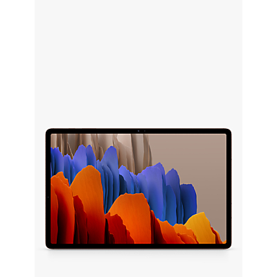 Image of Samsung Galaxy Tab S7+ Tablet with Bluetooth S Pen, Android, 6GB RAM, 128GB, 5G LTE, 12.4,