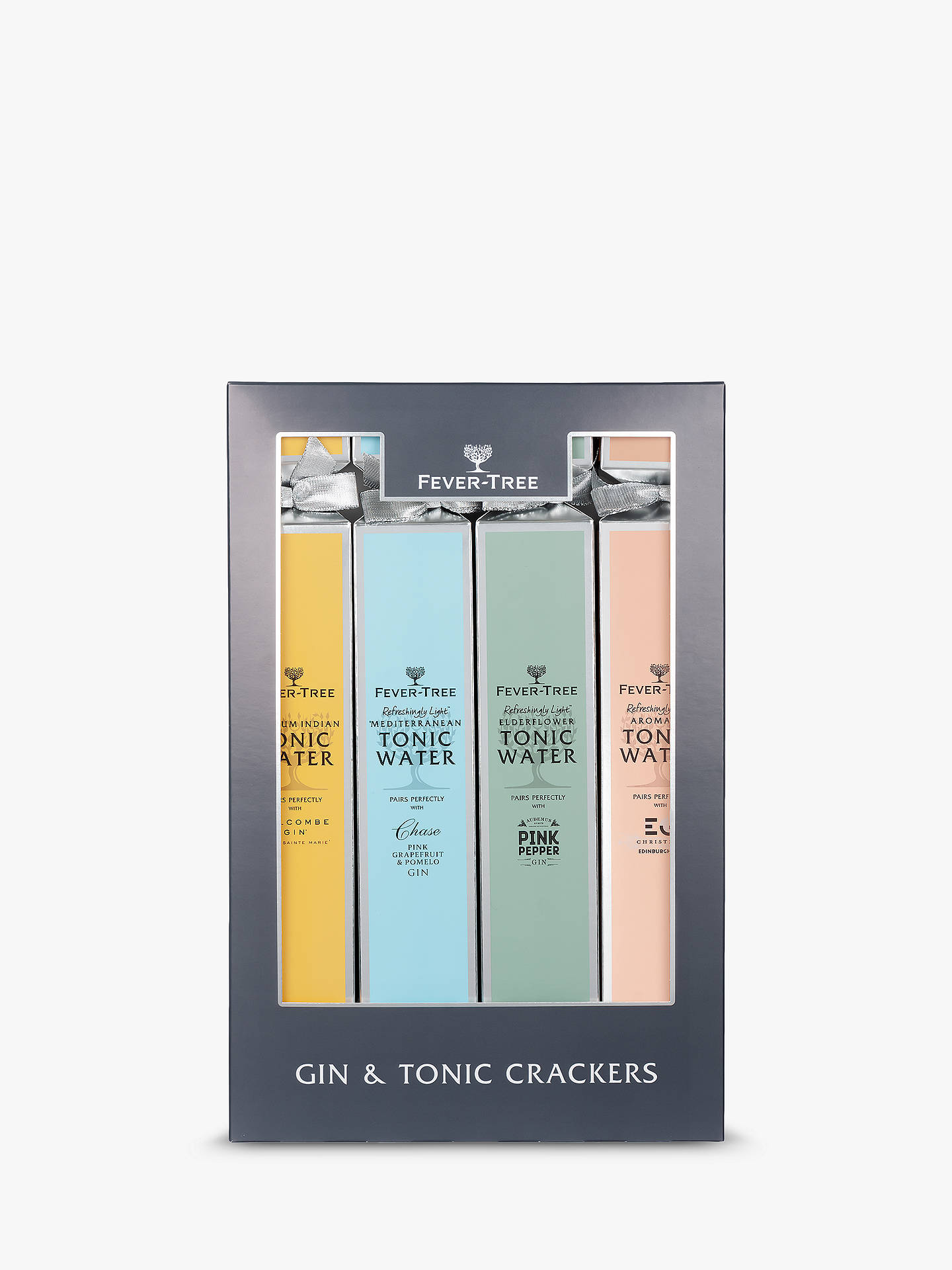 Buy Fever-Tree Gin and Tonic Pairing Crackers, Box of 4, 5cl & 150ml Online at johnlewis.com
